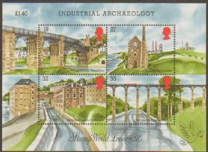 1989 MS1444 Industrial Archaeology Miniature Sheet